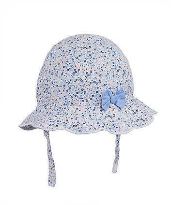 Mothercare Blue Floral Sun Hat