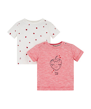 Mothercare Strawberry Frill Tops - 2 pack