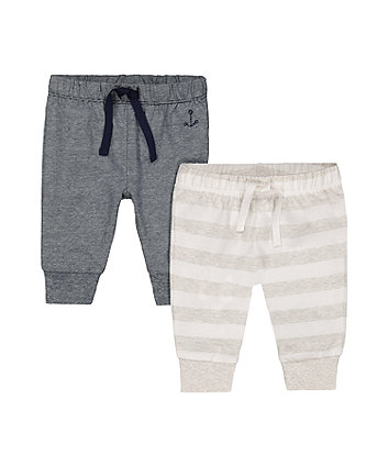 Mothercare Anchor Stripe Leggings - 2 Pack