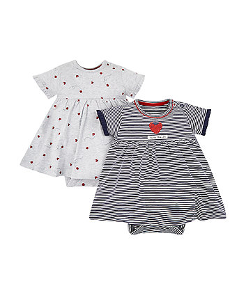Mothercare Strawberry And Ladybird Romper Dresses - 2 Pack