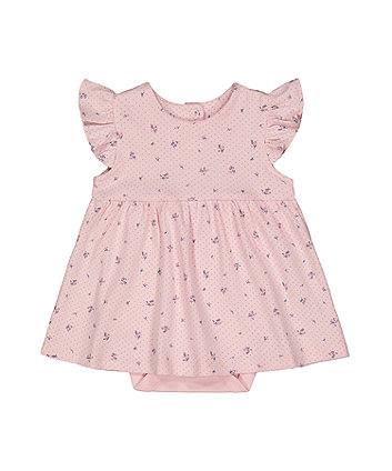 Mothercare Pink Floral Romper Dress