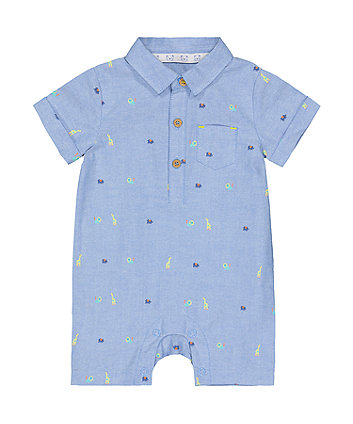Mothercare Chambray Animal Romper