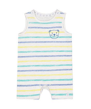 Mothercare Stripe Bear Romper