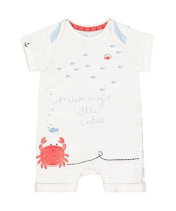 Mothercare Mummy Crab Romper