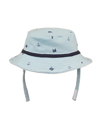 Mothercare Blue Whale Fisherman Hat