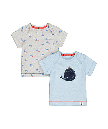 Mothercare Whale T-Shirts - 2 Pack