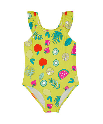 Mothercare Yellow Fruit Swimsuit