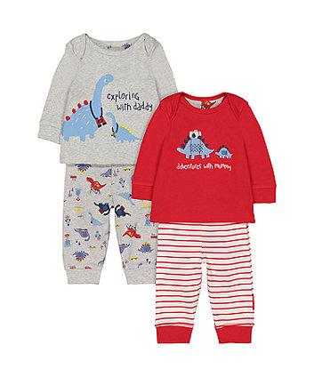 Dinosaur Pyjamas - 2 Pack (Size - Newborn)