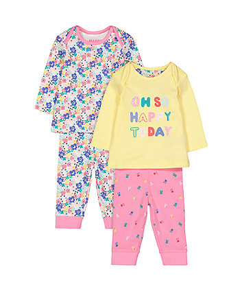 Happy Day Pyjamas - 2 Pack