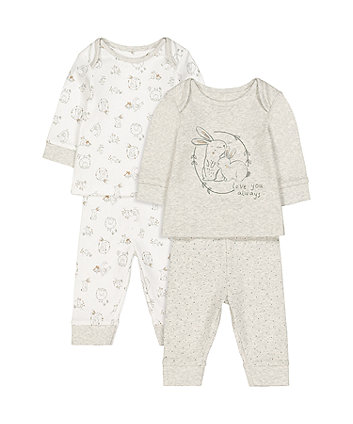 Mothercare Love You Always Pyjamas - 2 Pack