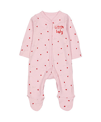 Mothercare Pink Ladybird All In One