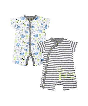Mothercare Animals Rompers - 2 Pack