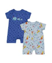 Mothercare Circus Rompers - 2 Pack