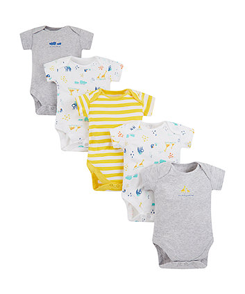 Mothercare Mummy And Daddy Bodysuits - 5 Pack