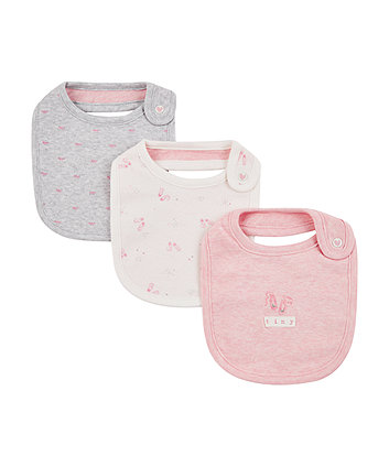 Mothercare My First Pink Bibs - 3 Pack