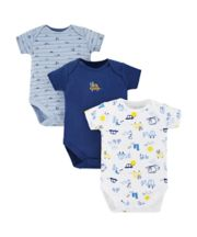 Mothercare On The Road Bodysuits - 3 Pack