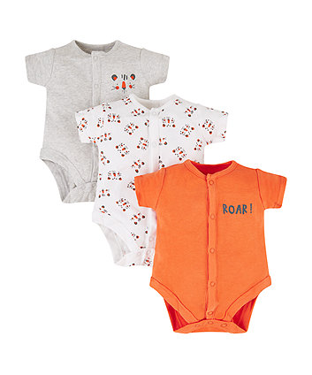 Mothercare Tiger Bodysuits - 3 Pack