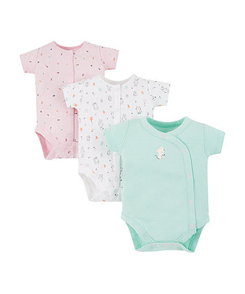 Mothercare Cat And Mouse Bodysuits - 3 Pack