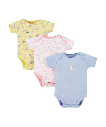 Mothercare Bunny Bodysuits - 3 Pack