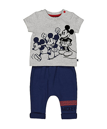 Mothercare Disney Baby Mickey Mouse T-Shirt And Joggers Set