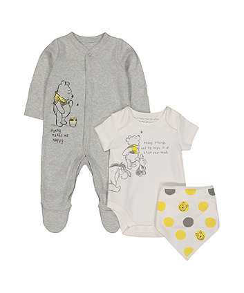 Mothercare Disney Baby Winnie The Pooh Three-Piece Set
