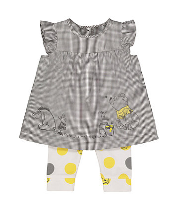 Mothercare Disney Baby Winnie The Pooh Dress And Leggings Set