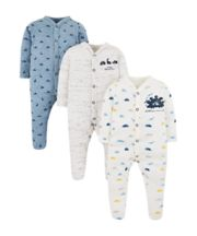 Mothercare Sweetest Little Thing Sleepsuits - 3 Pack