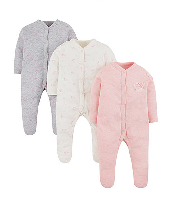 My First Sleepsuits - 3 Pack