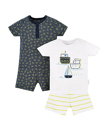 Boat Shortie Pyjamas - 2 Pack