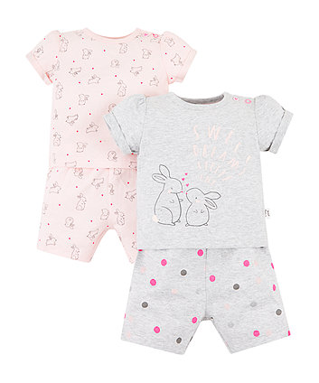 Sweet Dreams Bunny Shortie Pyjamas - 2 Pack