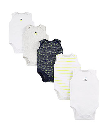 Boat Bodysuits - 5 Pack
