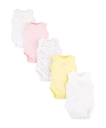 Mothercare Summer Floral Bodysuits – 5 Pack