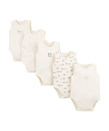 Mothercare Elephant Bodysuits – 5 Pack
