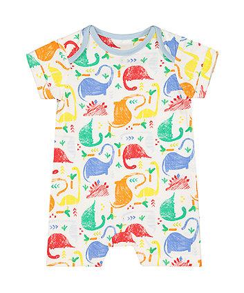 Mothercare Multicoloured Dinosaur Romper