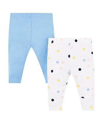 Blue And Spot Leggings - 2 Pack