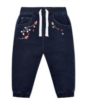 Mothercare Flowers And Ladybugs Blue Denim Jeans