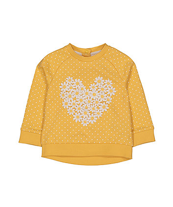 Mothercare Yellow Daisy Sweat Top