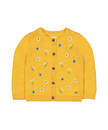 Mothercare Floral Yellow Cardigan