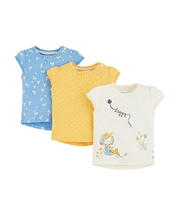 Daisy And Spot T-Shirts - 3 Pack