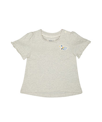 Mothercare Grey Marl Applique T-Shirt