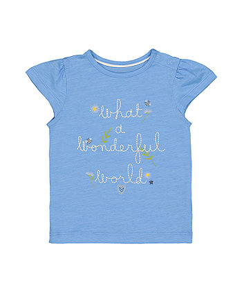 Mothercare Wonderful World T-Shirt