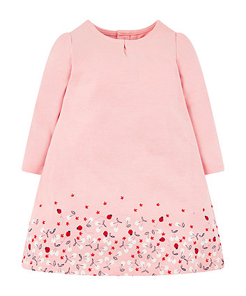 Mothercare Pink Cherry Border Dress