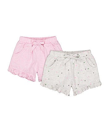 Mothercare Pink Spot Shorts - 2 Pack