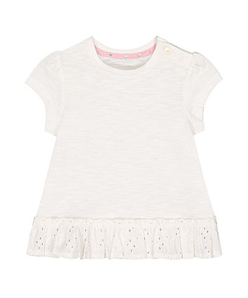 Mothercare Broderie Frill T-Shirt