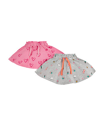 Mothercare Pink Heart Skirt - 2 Pack