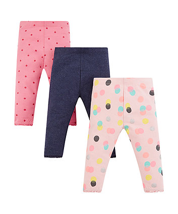 Mothercare Glitter Spot And Navy Leggings
