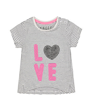 Mothercare Love Sequin Stripe T-Shirt