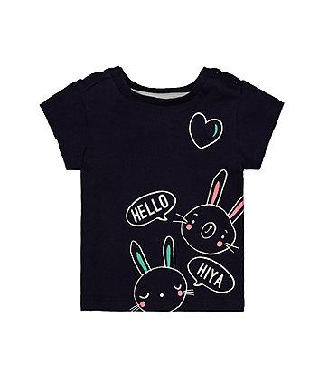 Hello Bunny Navy T-Shirt