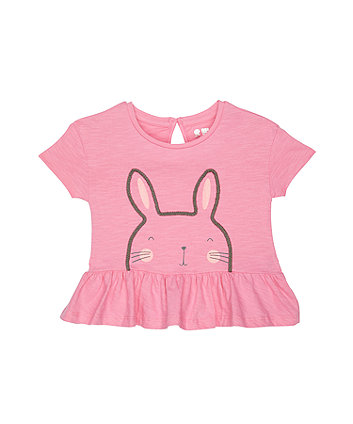 Mothercare Glitter Bunny Pink T-Shirt