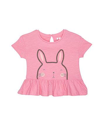 Glitter Bunny Pink T-Shirt